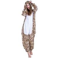 Bear Costume Halloween Cosplay Fashion Leopard Printed Winter Women Sleeping Jumpsuit Disfraces De Halloween Para Las