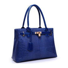 Women handbags Famous brand designer Luxury leather handbags women messenger bag Ladies crocodile pattern Shoulder bag HJLN1367