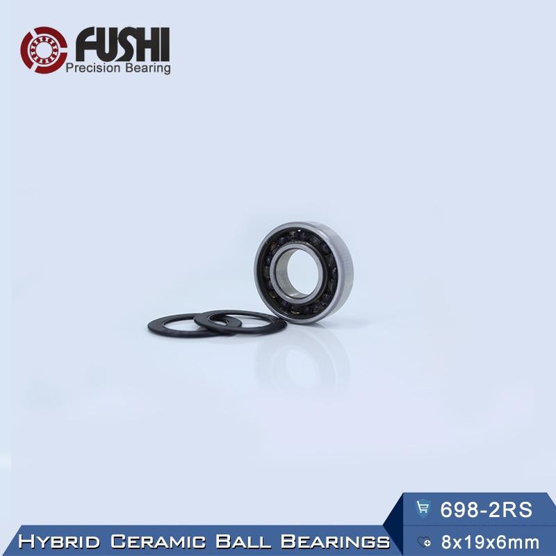 698 Hybrid Ceramic Bearing 8*19*6 mm ABEC-1 ( 1 PC) Industry Motor Spindle 698HC Hybrids Si3N4 Ball Bearings 3NC 698RS топор truper hc 1 1 4f 14951