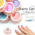 CANNI 10ML Gel Glitter Soak Off Paint Gelplosh Starry Nail Art LED UV Gel Nail Polish Lacquer 24 Color