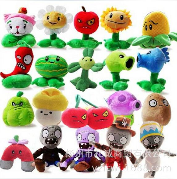 20 Styles Plants vs Zombies Plush font b Toys b font 12 28cm Plants vs Zombies