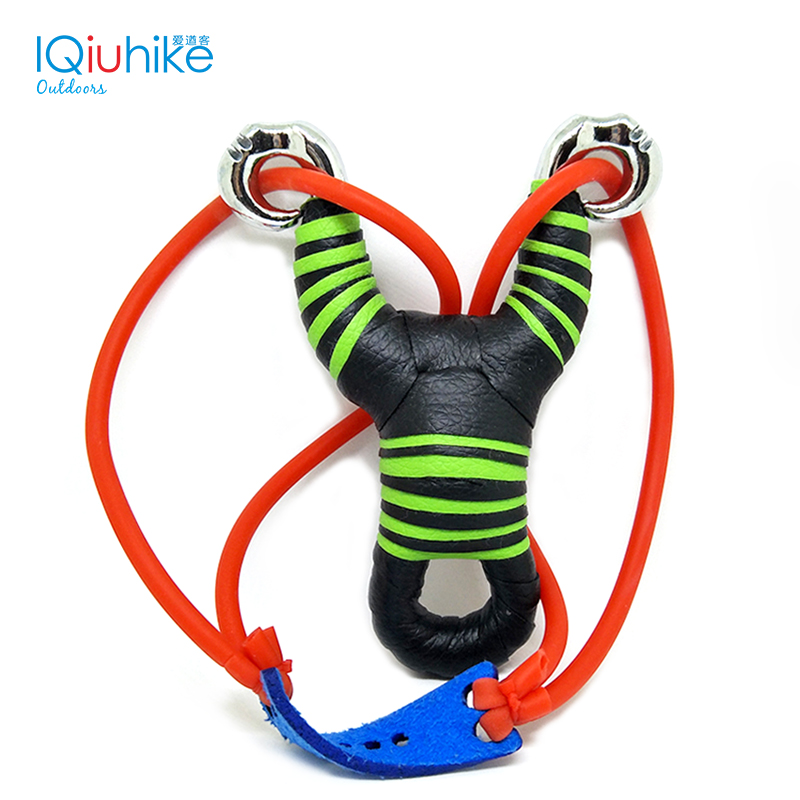 IQiuhike 2018 High Quality Powerful Alloy Slingshot Hunting Stainless Steel Outdoor Hunting Sling Shot Crossbow Tool Accessories