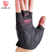 WHEEL UP Cycling Gloves Half Finger Bicycle Gloves Non-slip Anti-skid Soft Breathable Lycra