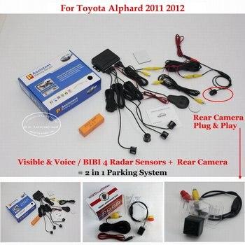 For Toyota Alphard 2011 2012 Car Sensors Sensor Reverse Rearview Back Camera Auto Alarm Parking System