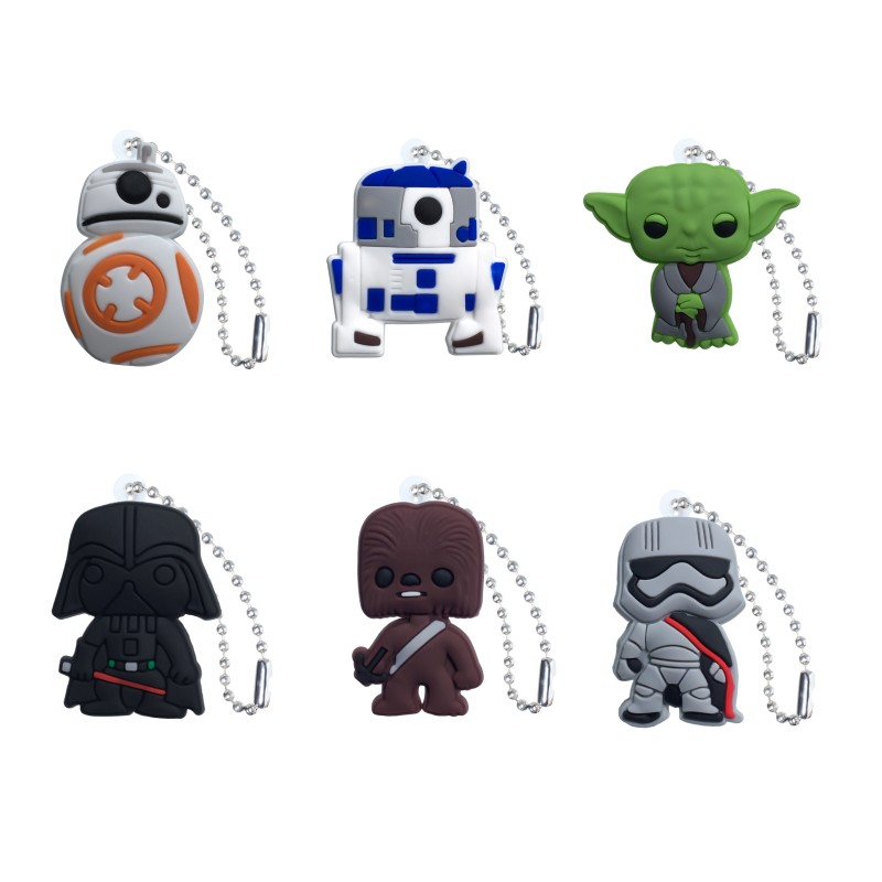 20PCS Star Wars Keychain Organizer Key Holder Cartoon Figure Key Ring Children DIY Bag Clothes Decor Party Gifts