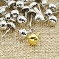 200 шт. металлический Железный серебряный золотой цвет круглый колпачок для скрапбукинга набор брадов для ногтей «сделай сам» инструменты д...