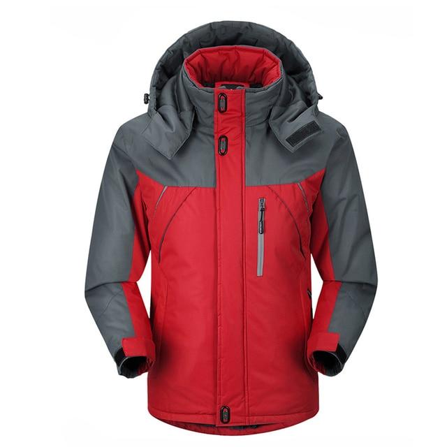 2016 Novos Homens Engrossar outwear Subida de Montanha de super quente Casaco de Inverno Jaqueta masculina Com Capuz Parkas jaquetas À Prova de Vento plus size