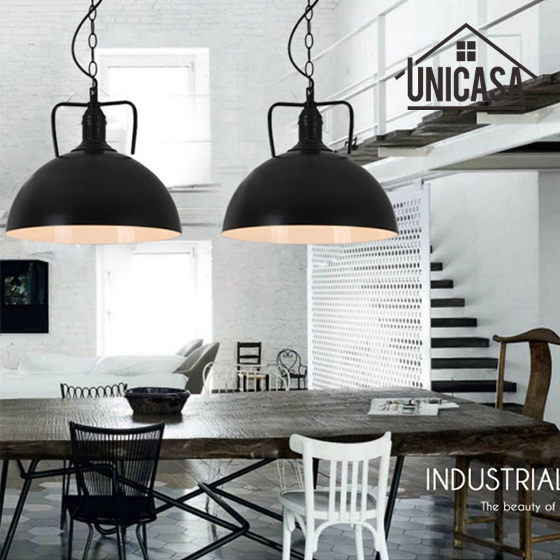 Wrought Iron Industrial Pendant Lights Vintage Black Metal Hotel Kitchen Island Lighting Fixtures Antique Pendant Ceiling Lamp white black shade wrought iron lighting fixtures modern pendant lights kitchen island office antique mini pendant ceiling lamp