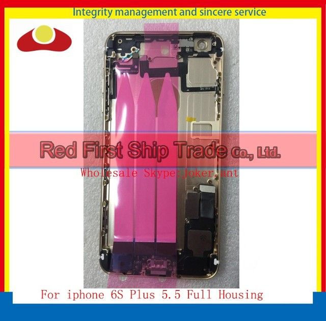"High Quality 5.5"" For IPhone 6S Plus Rear Back Cover Battery Full Housing Assembly with Sim Card Tray + Buttons+ Flex Cables"