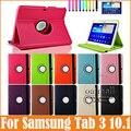 Новый 360 Вращающийся Смарт-Чехол Для Samsung Galaxy Tab 3 10.1 Case P5200 galaxi tab3 10.1 дюймов Планшетных Случаи Кожаный Стенд Case
