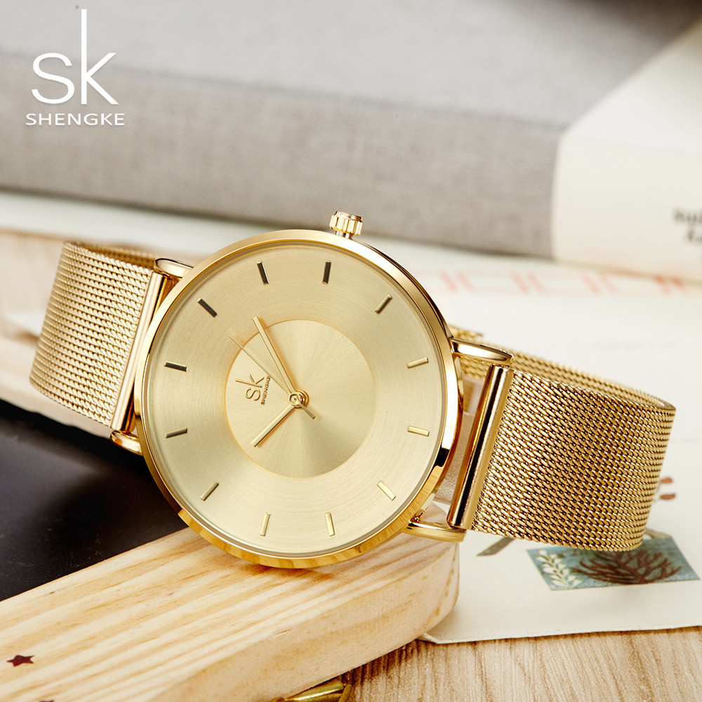 Shengke Watch Women Brand Luxury Quartz Women Watches Fashion Relojes Mujer Ladies Wrist Clock Business Relogio Feminino Saat SK fashion brand crrju watches women ladies crystal diamond quartz watch luxury rose gold wrist watches for women relojes mujer