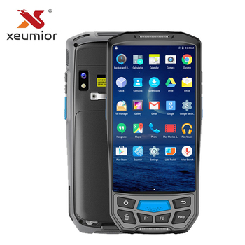 SM-DT50 Warehouse Portable Rugged WIFI 4G UHF Mobile 2D Barcode Scanner Handheld Android PDA with Built in Thermal Printer