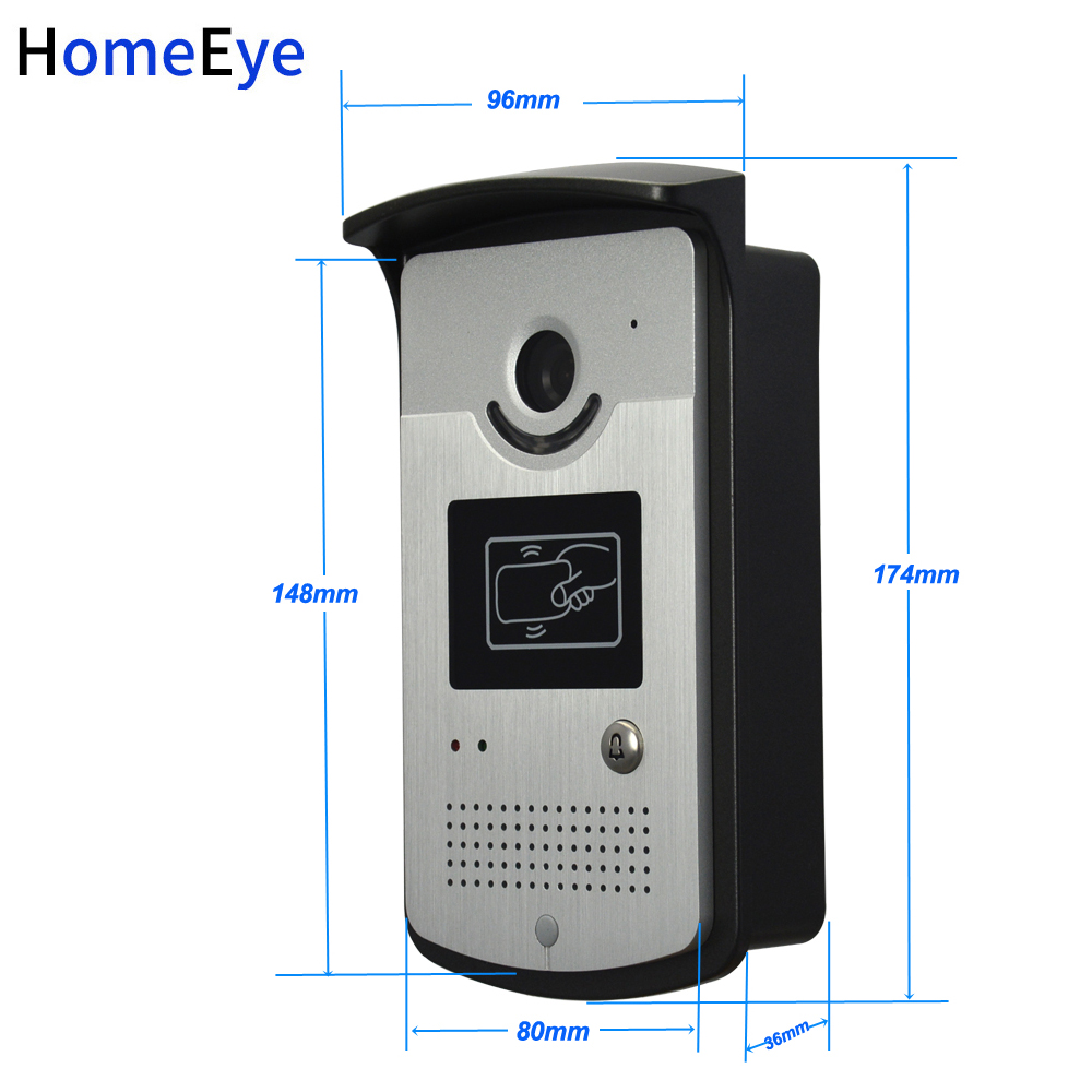 10'' Screen Video Door Phone Video Intercom 2V1 Home Access Control System+RFID Card Reader 1200TVL Waterproof Touch Button OSD - 4