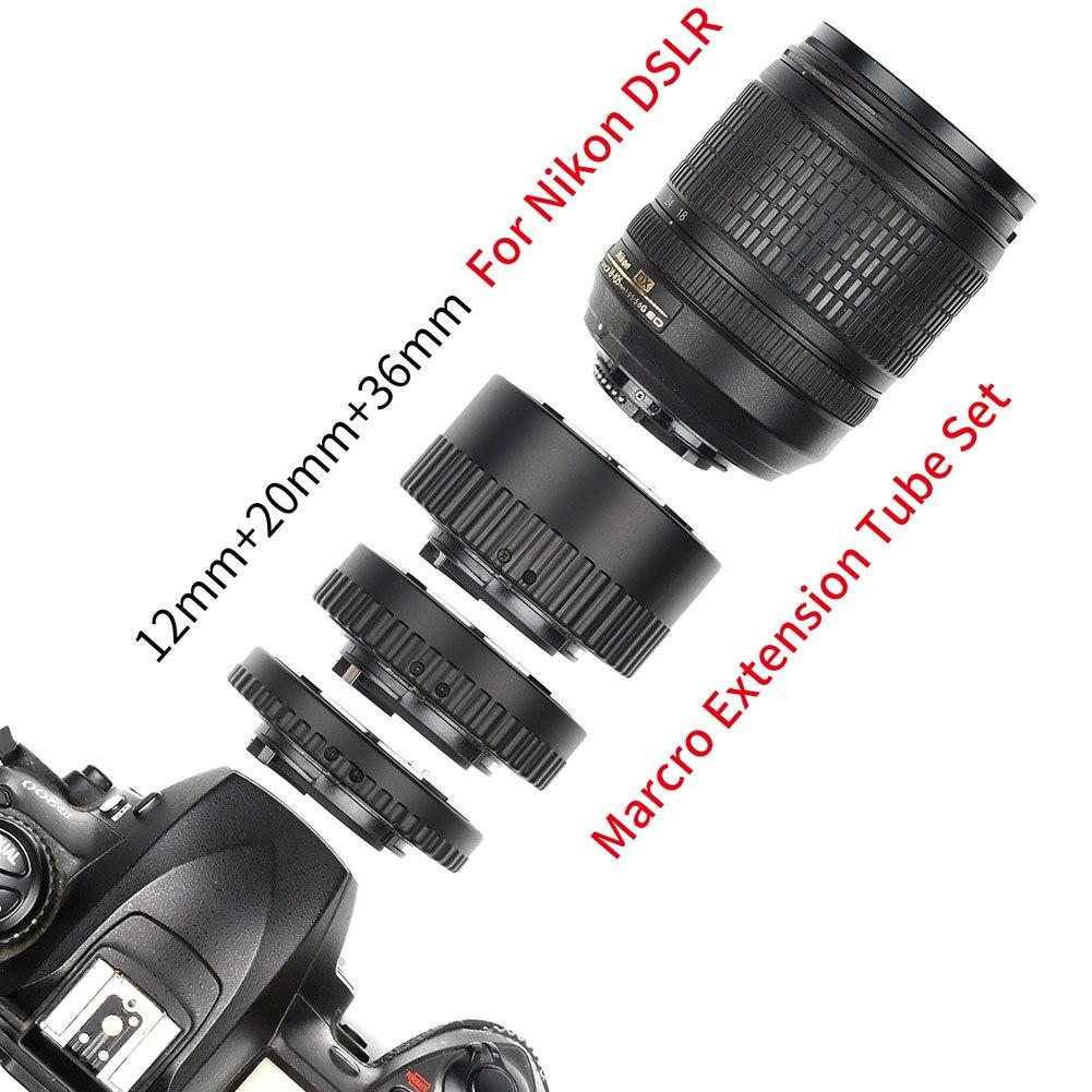 1 ensemble Tube d'extension de caméra mise au point automatique micro-éperon anneau de photographie pour Nikon SD998 - 6