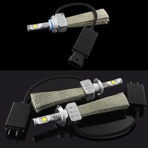 Image 2 - 2 adet beyaz H4 H7 H8 H9 H11 9005 HB3 9006 HB4 H10 H16JP 9012 HIR2 LED ampul araba far kiti 12000LM XHP50 cips lamba