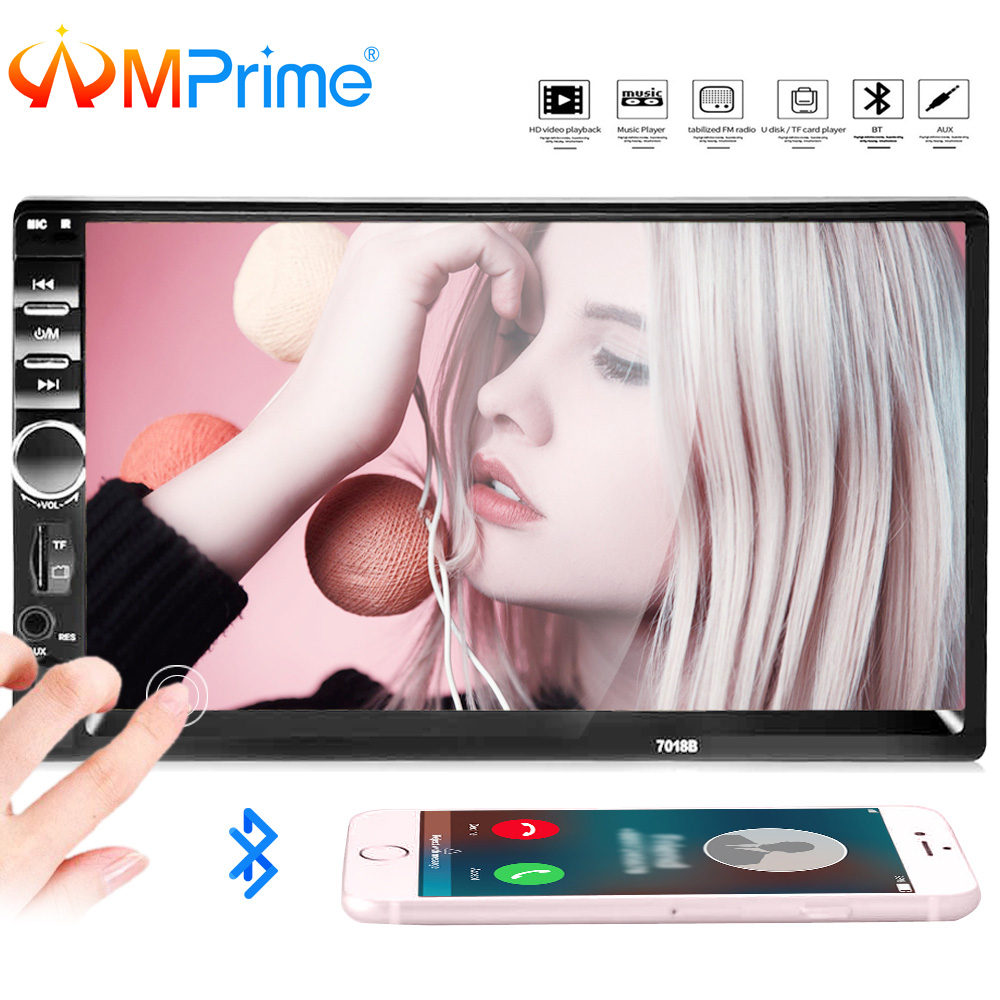 AMPrime 7018B Universal Auto Multimedia-Player Autoradio 2din Stereo 7