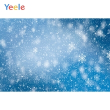 Yeele Wallpaper Fallen Snow Glitter Party Blue Decor Photography Backdrop Personalized Photographic Backgrounds For Photo Studio