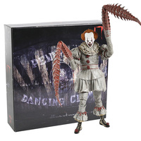 NECA Toy Stephen King's It Ultimate Dancing Clown Pennywise With LED PVC Action Figure Collectible Model Toys