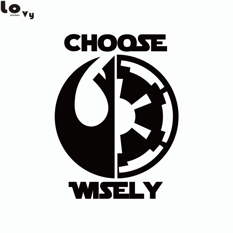 Star Wars Car Sticker Dark Side Light Side Choose Wisely Car Decal