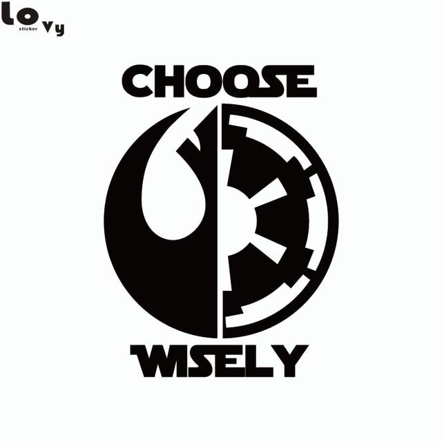 Star Wars Car Sticker Dark Side Light Side Choose Wisely Car Decal