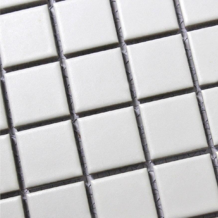 square white ceramic mosaic tiles kitchen backsplash wall bathroom ...