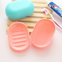2018 New Fashion Soap Box Shower Plate Hiking Bathroom Home Case Container Travel Holder Dish New Candy Color Hot SaleBathroom#(China)