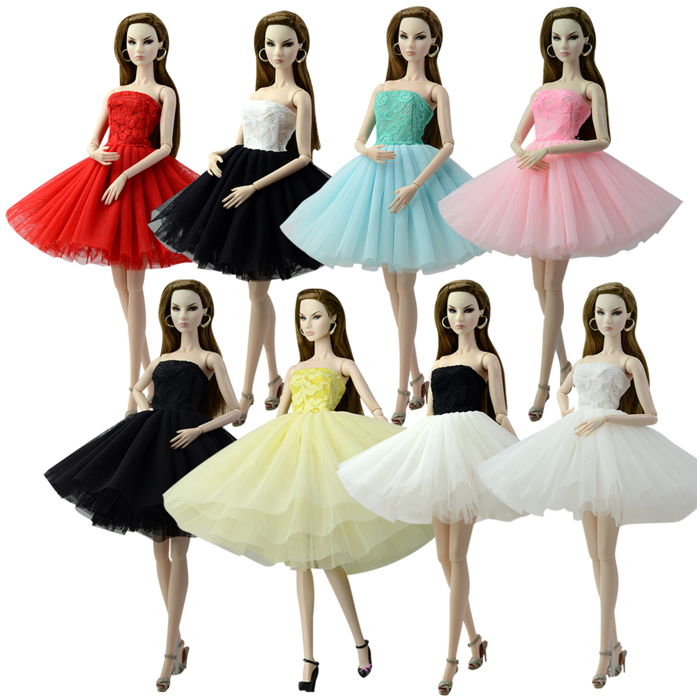 NK One Set Doll Clothes Dress Fashion Skirt Party Gown For Barbie Doll Girl Best Gift G036 JJ image