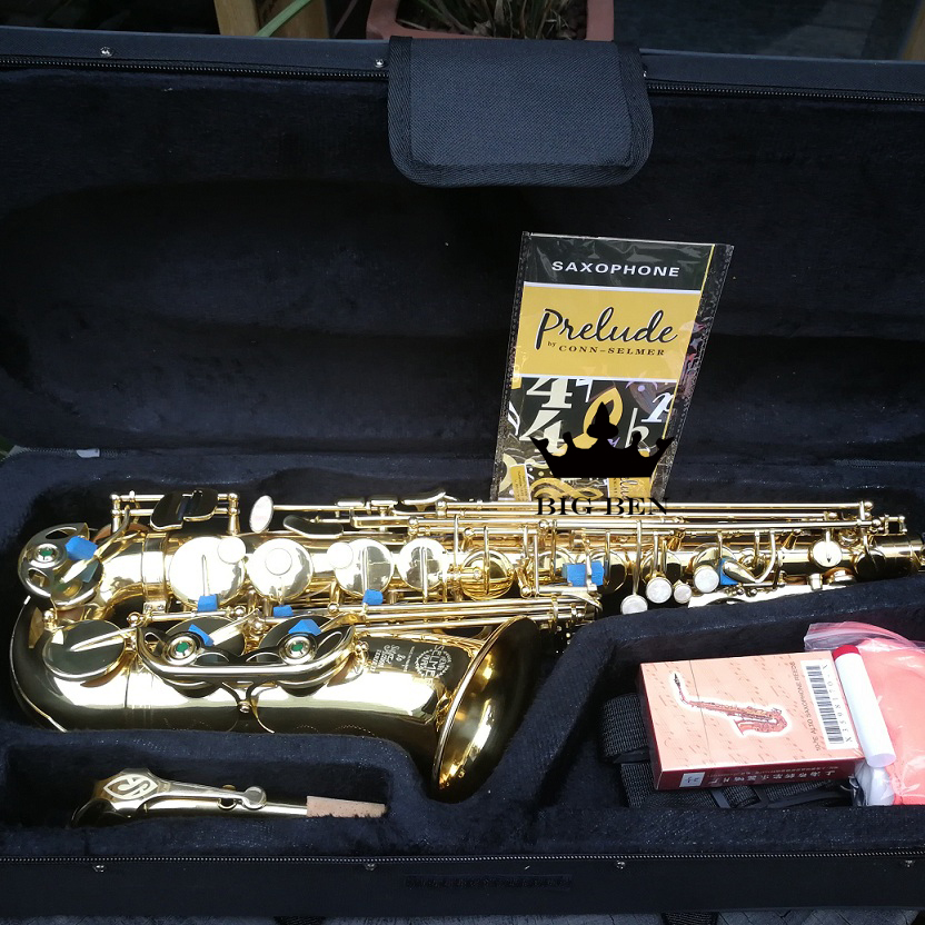 Alto Saxphone performer uses school performance Eb Sax gold Saxophone case bakelite mouthpiece sachs drop E saxphone professional play h68 phosphor bronze copper bb saxphone falling tune b bakelite mouthpiece head sax straight saxophone in bb