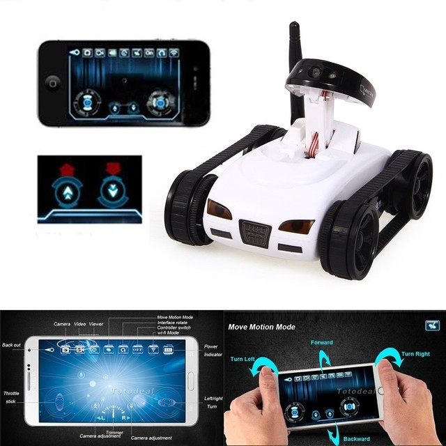 Children Adult WiFi Rc Mini Tank Car ISpy with Video 0.3MP Camera 777-270  Remote Robot with 4CH Suppots By Mobile phone Apps