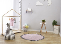 INS Baby Infant Play Mats Kids Crawling Carpet Floor Rug Baby Bedding Rabbit Blanket Cotton Game Pad Children Room Decor 120CM
