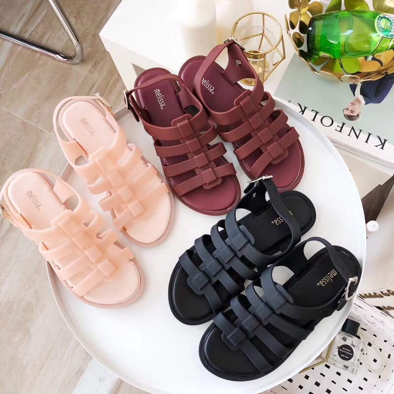 Melissa Women's Sandals Brazilian Female Jelly Shoes Summer Women Casual Jelly Shoes Romam Melissa Sandals