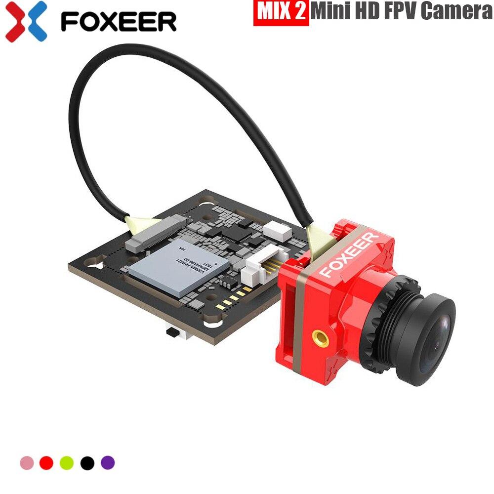 Foxeer Mix 2 16:9/4:3 PAL/NTSC commutable 1080p 60fps Super WDR Mini HD FPV caméra avec objectif 2.1mm pour partie drone de course FPV