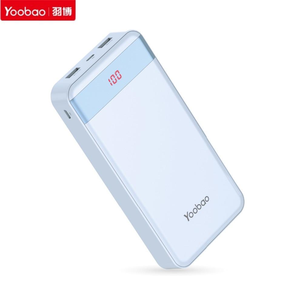 imágenes para Yoobao 20000 mAh S20-1 Mini LCD Banco de Potencia Dual USB Batería de Reserva de Entradas Duales puertos de Carga Para El Iphone Para Android teléfonos