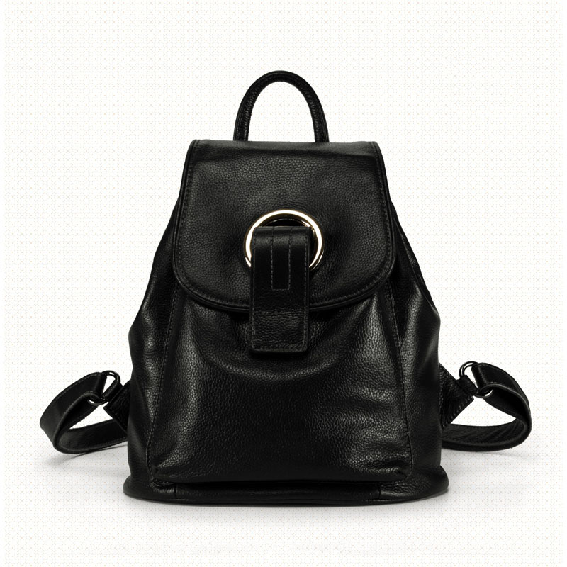 Ms. new vertical square leather large-capacity backpack Korean wave fashion leather multi-purpose backpack