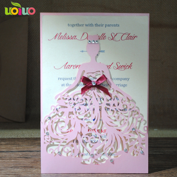 cheap many of kinds of laser cuttting birthday invitations for your choose