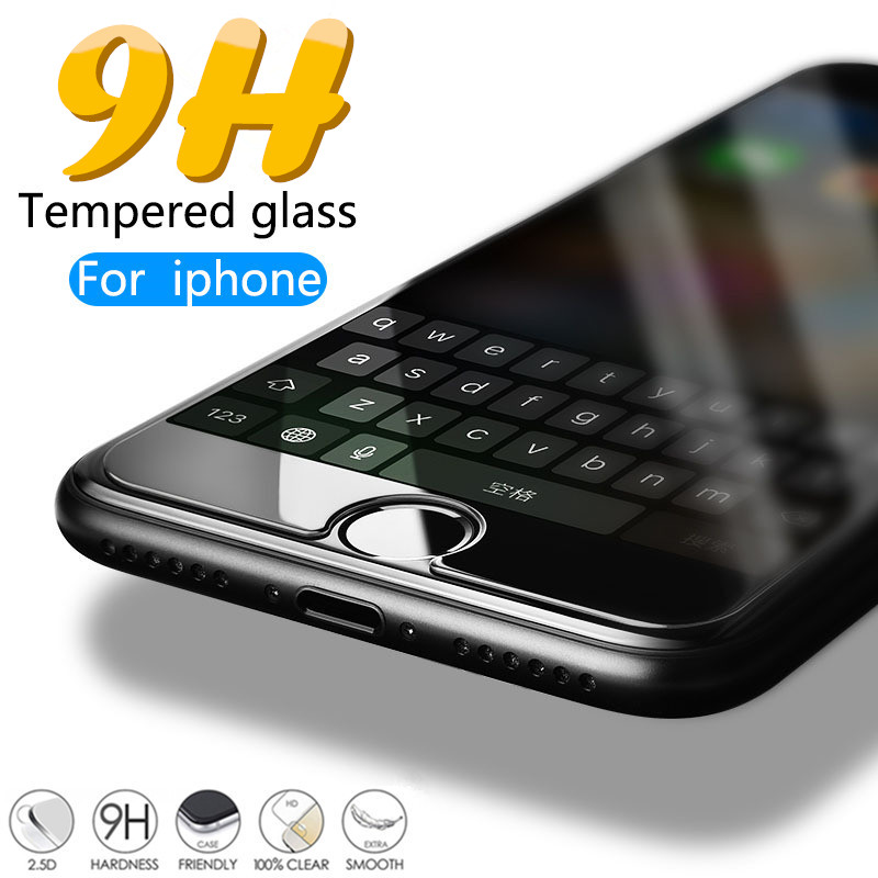 9H Protective Tempered Glass For iPhone 7 8 Plus 6 6s Plus Glass for iPhone 4 4S 5 5S SE Screen Protector on iPhone X XS Max XR9H Protective Tempered Glass For iPhone 7 8 Plus 6 6s Plus Glass for iPhone 4 4S 5 5S SE Screen Protector on iPhone X XS Max XR