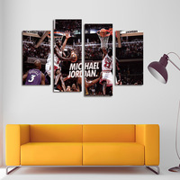 FOUR PC NO FRAME Michael Jackson Oil Painting Printed Oil Painting On Canvas Home Decor Wall
