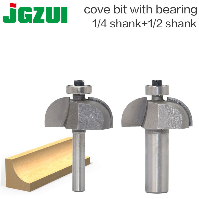 1pc Shank 1/2 1/4Radius Round Grooving Cove Box Bit CNC Round Nose Router Bits For Wood Industrial Grade Woodworking Endmill