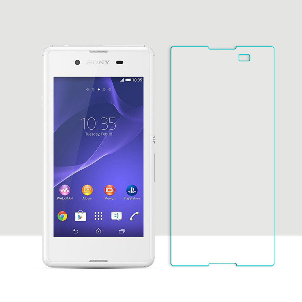 2.5D Curved Edge Screen For <font><b>Sony</b></font> <font><b>Xperia</b></font> <font><b>E3</b></font> D2203 D2206 D2243 <font><b>D2202</b></font> Tempered Glass For <font><b>Sony</b></font> <font><b>E3</b></font> Screen Protector Film Anti-Scratch image