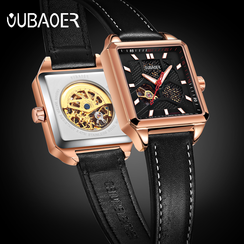 OUBAOER Design Watches Men Steel Brand Automatic Mechanical Watch Men Watches Fashion Casual Military Business Hours Clock oubaoer fashion top brand luxury men s watches men casual military business clock male clocks sport mechanical wrist watch men