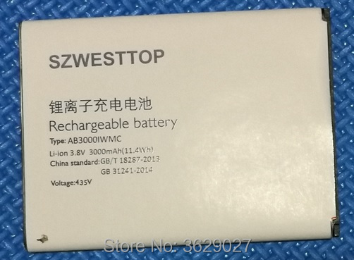 SZWESTTOP original AB3000IWMC battery For philips S326 cellphone AB3000IWMC Batterie for XENIUM CTS326 smart phone