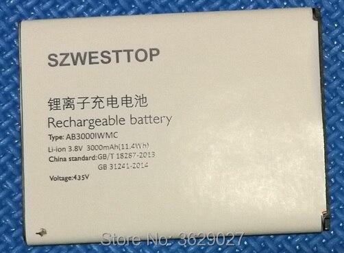 SZWESTTOP d'origine AB3000IWMC batterie Pour philips S326 téléphone portable AB3000IWMC Batterie pour XENIUM CTS326 téléphone intelligent