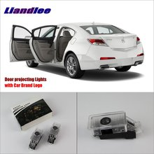 цена на Liandlee Car Door Welcome Light Shadow LED Laser Projector Logo For Acura TL / Acura RLX Courtesy Doors Lights Accessories Parts