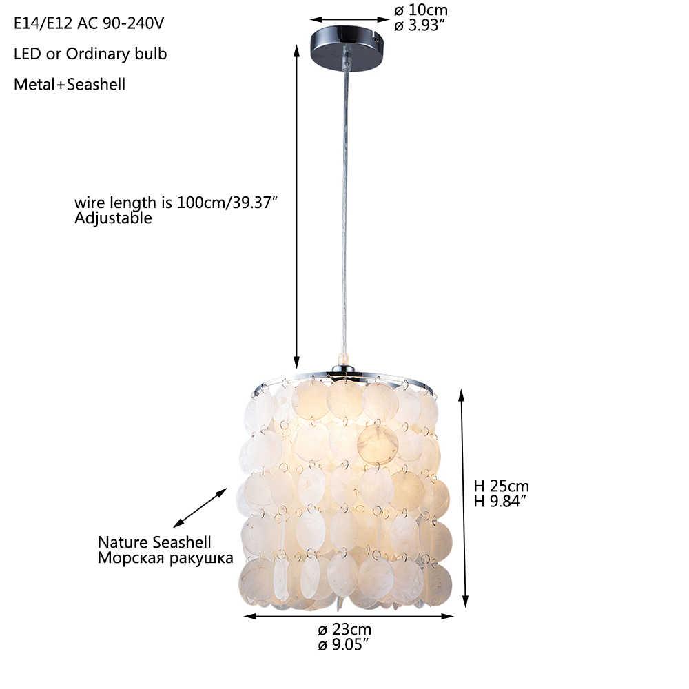 Bắc Âu Hiện Đại Trắng Tự Nhiên Đồ Đi Biển Treo Mặt Dây Chuyền Đèn Đèn E27 Đèn LED Cho Nhà Deco Phòng Ngủ Phòng Khách Nhà Hàng