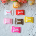 10pcs/lot kawaii flat back sweet sugar candy resin Mixed style Fit baby girls hair accessories hairpin hair rope DIY 23*16mm