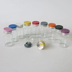 Image 3 - Leere 10ML Klar Injection Glas Fläschchen mit Kunststoff Aluminium Kappe 10CC Transparente Flüssigkeit Medizin Glas Container