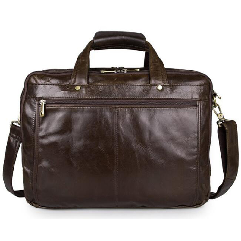 5a5623ff4 ANAPH Men Work Bags Full Grain Leather Briefcases Business Tote Bag For 15  Inch Laptop Large Capacity High Quality Brown-in Briefcases from Luggage &  Bags ...