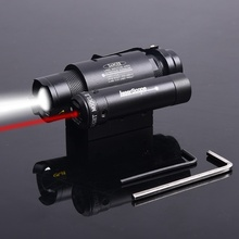 airsoft Hunting Tactical Compact Red Dot Laser Powerful Focus Torch Flashlight