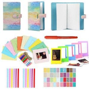 Image 1 - 6 in 1 Colorato Fascio Kit Set di Accessori per Instax Mini 9 8 8 + 7 s 70 90 25 macchina fotografica Assortiti Pack di Accessori di Album Cornici ecc
