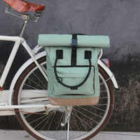 Tourbon Vintage Fahrrad Tasche Retro Bike Pannier Taschen Radfahren Hinten Pack Sitz Freizeit Crossbody Schulter Laptop Tasche Stadt Rucksack